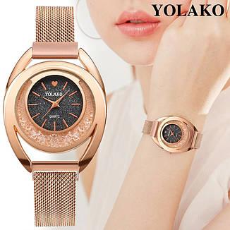 """Женские наручные часы на магнитной застежке """"Yolako"""" (серебристый циферблат), фото 2"""