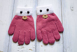 Детские вязаные перчатки D115-1