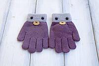 Детские вязаные перчатки D115-4, фото 1