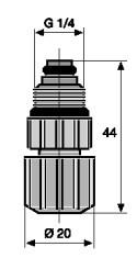 Клапан дозируюющий (инжекционный) PVC  6/4 - G 1/4''