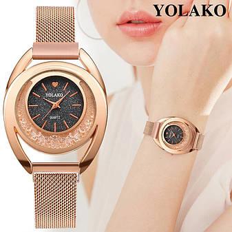 """Женские наручные часы на магнитной застежке """"Yolako"""" (темно-серый циферблат), фото 2"""