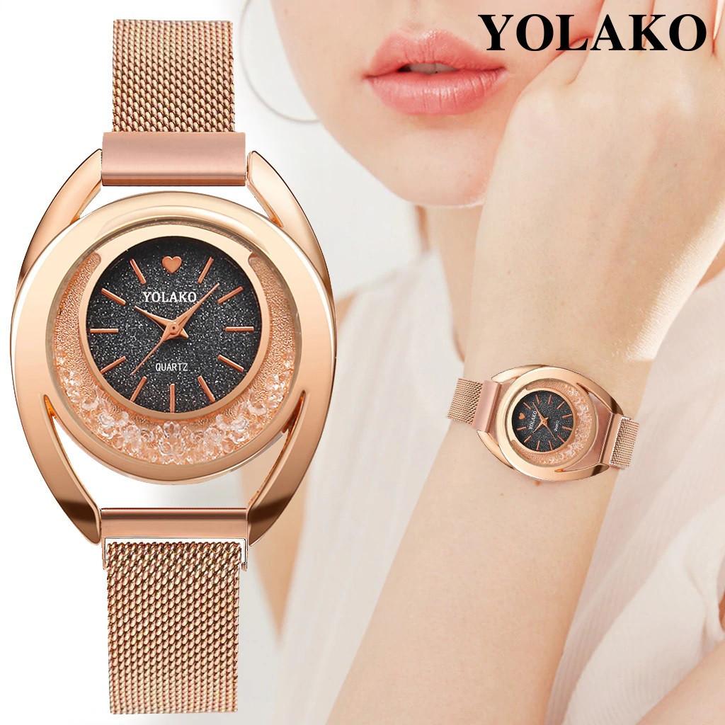 """Женские наручные часы на магнитной застежке """"Yolako"""" (темно-серый циферблат)"""