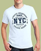 0030-TSRA-150-WH   Мужская футболка «NYC» белая