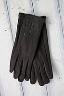 Женские стрейчевые перчатки Черные Большие, фото 1