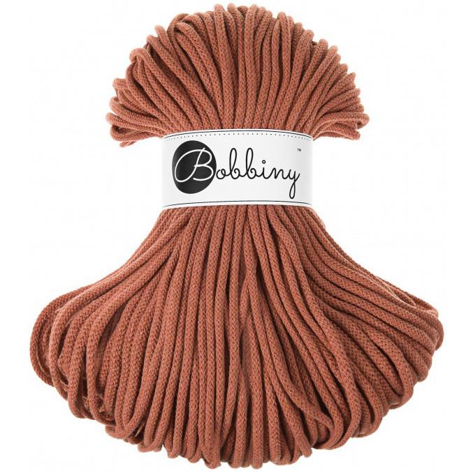 Шнур хлопковый Bobbiny 5 мм, цвет Терракот