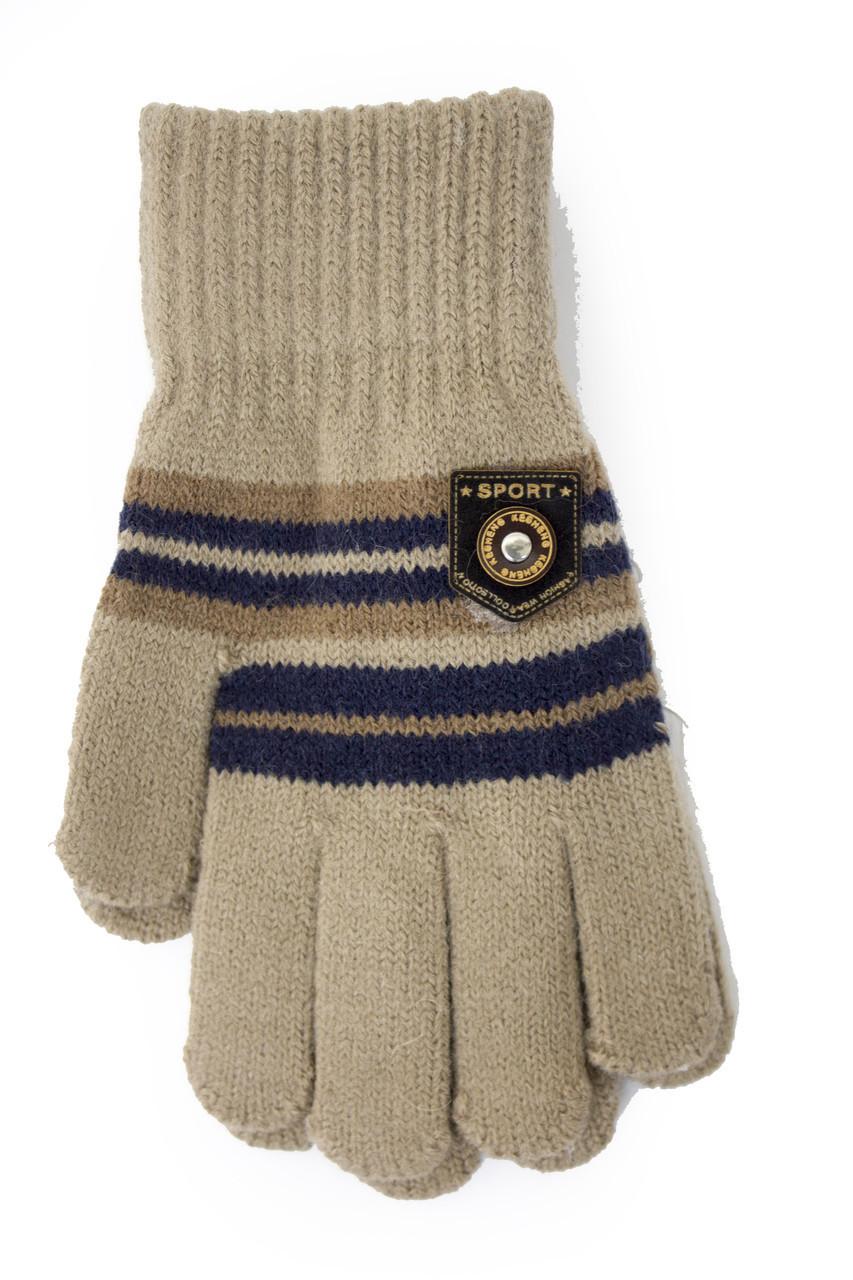 Трикотажные перчатки Корона детск. вязаные M5670-8 мокко