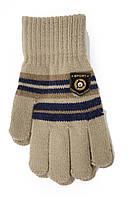 Трикотажные перчатки Корона детск. вязаные M5670-8 мокко, фото 1