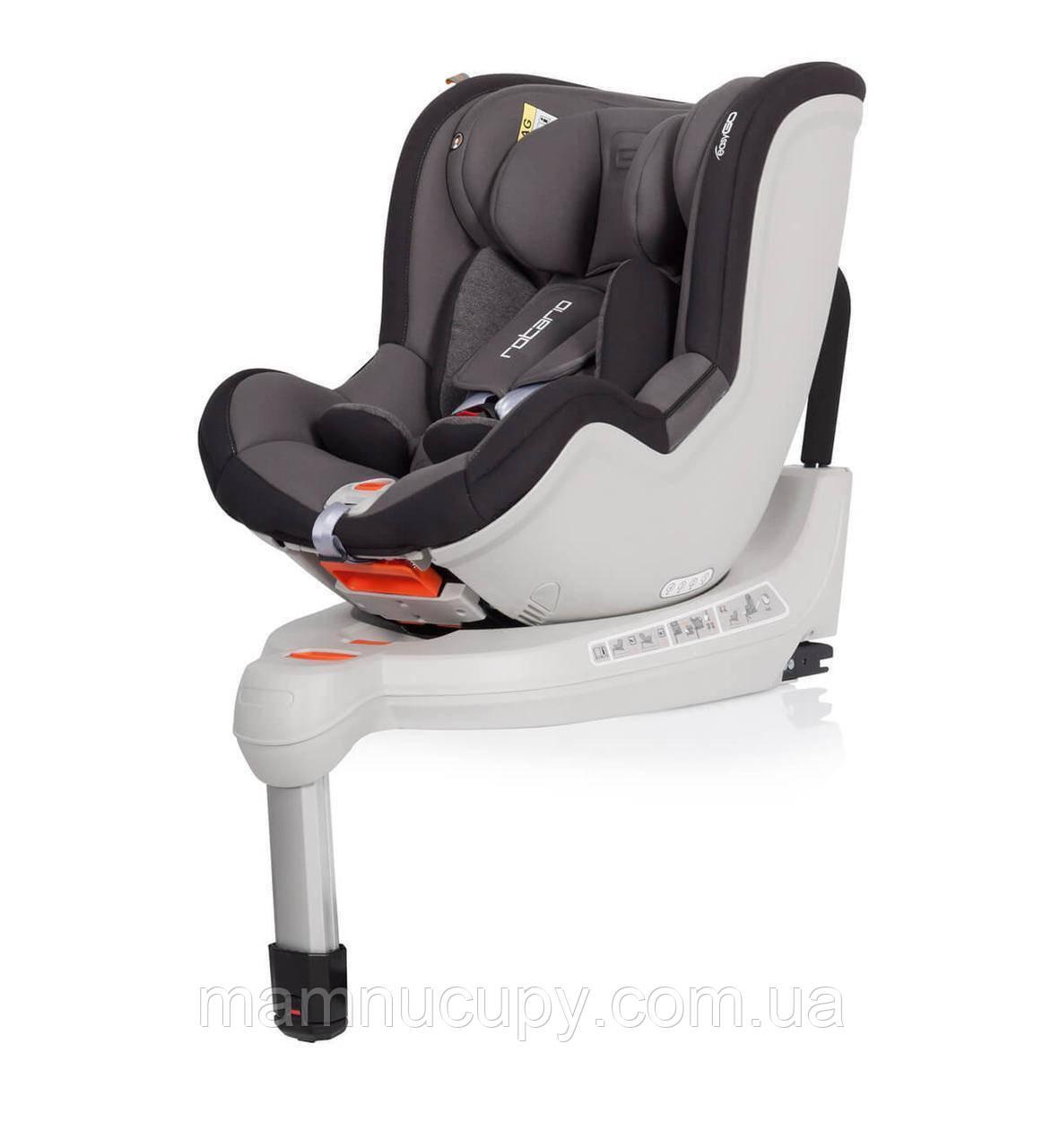Автокрісло дитяче EasyGo Rotario Isofix Titanium, 0-18 кг