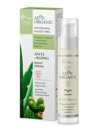 Ночной крем для лица с алое вера 50 мл AVA Aloe Organic
