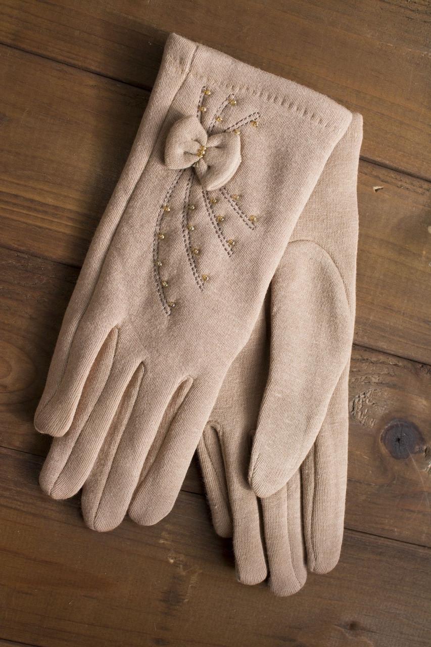 Женские стрейчевые перчатки средние 114S2