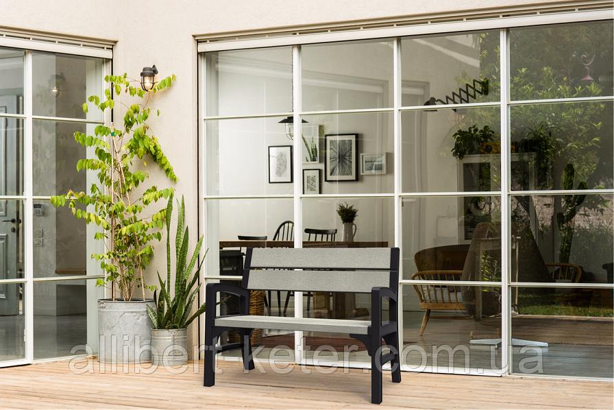 Набор садовой мебели Montero Double Seat Bench из искусственного ротанга