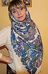 Молитва 353-2, павлопосадский платок шерстяной  с шерстяной бахромой, фото 7