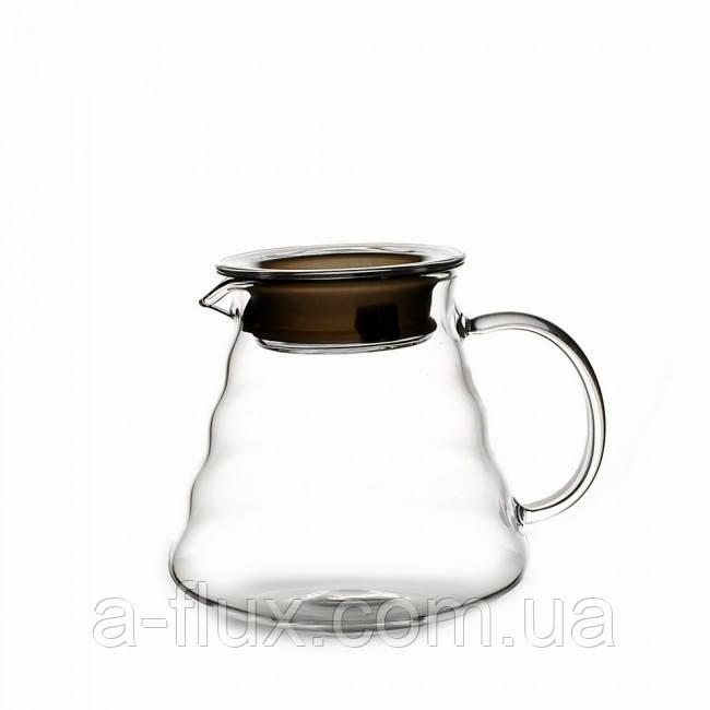 Чайник с крышкой 600 мл стекло 6802