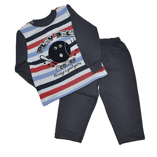 Детский флисовый костюмчик на кнопках, размер  1-2 года (2 ед. в уп.)