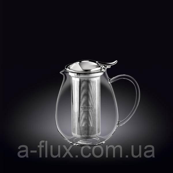 Заварочный чайник с металлическим ф-м Wilmax Thermo 600мл 888801