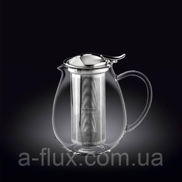 Заварочный чайник с металлическим ф-м Wilmax Thermo 1300мл 888803