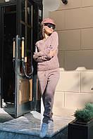 Женский спортивный костюм вязанный бордо, кофе, пудра, оливка, джинс , графит , беж