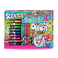 Ароматный набор для творчества - ЗАБАВНАЯ КОМПАНИЯ (маркеры, воск.карандаши, наклейки, раскраска)