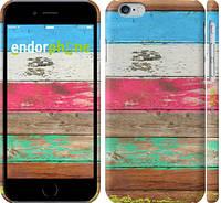 "Чехол на iPhone 6 Цветное дерево ""2712c-45"""