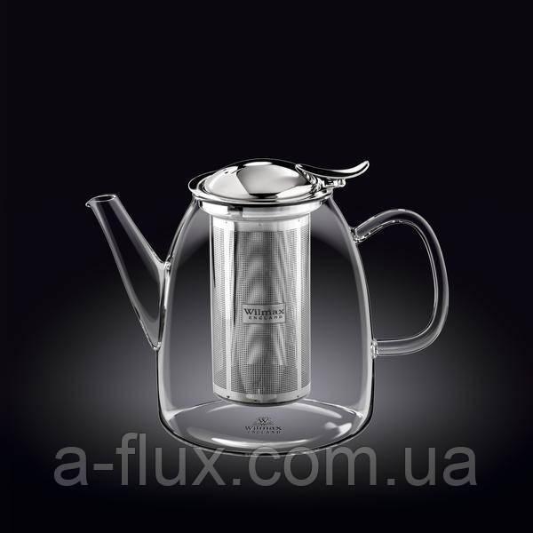 Заварочный чайник с металлическим ф-м Wilmax Thermo 1000мл 888808