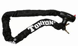 Замок на ключ ланцюг TONYON TY-715, 900х8mm (чорний)