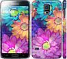 """Чехол на Samsung Galaxy S5 g900h разноцветные цветы 1 """"2271c-24"""""""