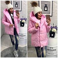 Куртка объемная женская зимняя Зефирка 0004, фото 1