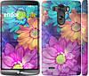 """Чехол на LG G3 dual D856 разноцветные цветы 1 """"2271c-56"""""""