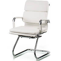 Крісло для конференцій Solano 3 office artleather white E5913, фото 1