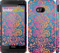 "Чехол на HTC One M7 Барокко хамелеон ""2020c-36"""