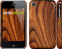 """Чехол на iPhone 3Gs Тёмно-коричневое дерево """"1107c-34"""""""