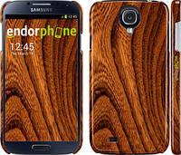 """Чехол на Samsung Galaxy S4 i9500 Тёмно-коричневое дерево """"1107c-13"""""""