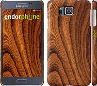 """Чехол на Samsung Galaxy Alpha G850F Тёмно-коричневое дерево """"1107c-65"""""""