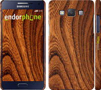 """Чехол на Samsung Galaxy A5 A500H Тёмно-коричневое дерево """"1107c-73"""""""