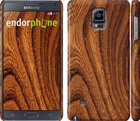 """Чехол на Samsung Galaxy Note 4 N910H Тёмно-коричневое дерево """"1107c-64"""""""
