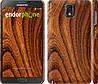 """Чехол на Samsung Galaxy Note 3 N9000 Тёмно-коричневое дерево """"1107c-29"""""""