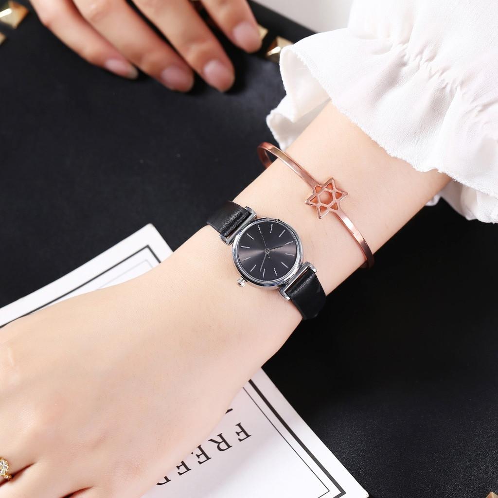 Женские наручные часы (черный, черный циферблат)