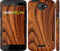 """Чехол на HTC One X+ Тёмно-коричневое дерево """"1107c-69"""""""