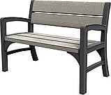 Набор садовой мебели Montero Triple Seat Bench из искусственного ротанга ( Allibert by Keter ), фото 5