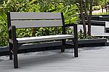 Набор садовой мебели Montero Triple Seat Bench из искусственного ротанга ( Allibert by Keter ), фото 8