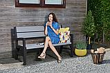 Набор садовой мебели Montero Triple Seat Bench из искусственного ротанга ( Allibert by Keter ), фото 9