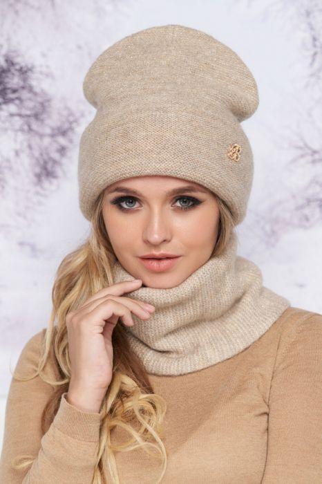 Женский комплект «Сіяна» (шапка і шарф-хомут)