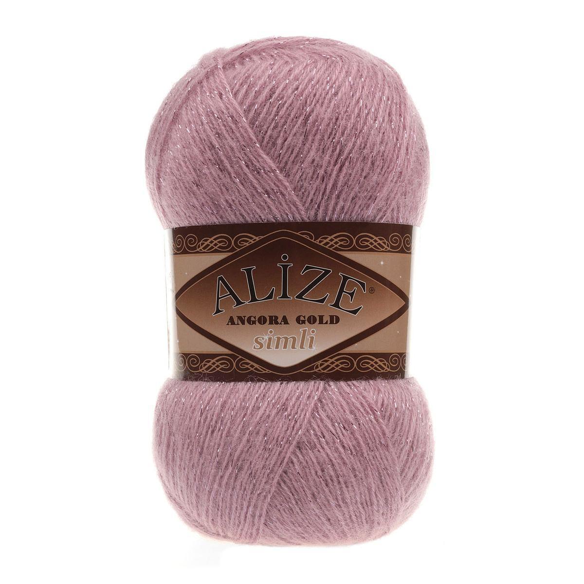 ANGORA GOLD SIMLI 295 розовый - 20% шерсть, 5% металлик, 75% акрил