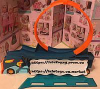 Детский игрушечный трек перевозчик автовоз Hot Wheels Хот вилс PT8830 петля, машинка, аналог