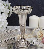 Винтажная посеребренная вазочка, серебрение, мельхиор, Англия, фото 1