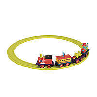 Игровой набор с железной дорогой - БАТТАТОЭКСПРЕСС S2 (свет, звук, 4 вагончика, диаметр 91 cm)