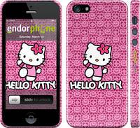 "Чехол на iPhone 5s Hello kitty. Pink lace ""680c-21"""