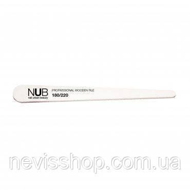 Пилка для нігтів NUB 180/220 Professional Wooden File крапля