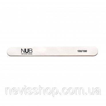 Пилка для нігтів NUB 150/180 пряма, колір білий