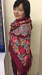 Молитва 353-5, павлопосадский платок шерстяной  с шерстяной бахромой, фото 10